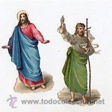 Coleccionismo Cromos troquelados antiguos: LOTE DE 2 CROMOS TROQUELADOS RELIGIOSOS. CIRCA 1920. Lote 50424542
