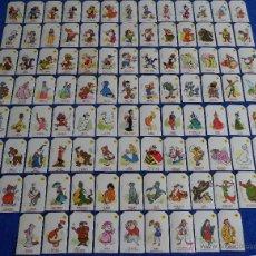 Coleccionismo Cromos troquelados antiguos: PLASTICROMOS WALT DISNEY - BIMBO (1977) ¡COLECCIÓN COMPLETA!. Lote 50568488