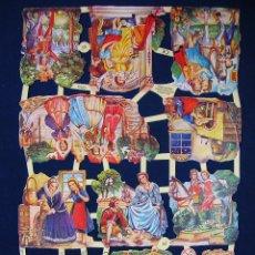 Coleccionismo Cromos troquelados antiguos: LAMINA CROMOS TROQUELADOS EF- 7253. IMAGENES DE CUENTOS. GRAN BRILLO Y RELIEVE.. Lote 288105233