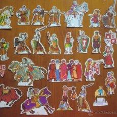 Coleccionismo Cromos troquelados antiguos: LOTE DE 29 PERSONAJES TROQUELADOS RUY, EL PEQUEÑO CID (1980) DE DANONE. VER FOTOS.. Lote 51035311