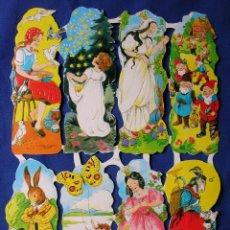 Coleccionismo Cromos troquelados antiguos: LAMINA CROMOS TROQUELADOS EF- 7115. CUENTOS.GRAN BRILLO Y RELIEVE.¡OFERTA¡. Lote 98404767