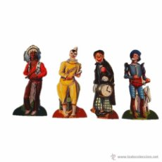 Coleccionismo Cromos troquelados antiguos: COLECCION DE 4 CROMOS CROMO TROQUELADO - CHOCOLATES EVARISTO JUNCOSA, BARCELONA. Lote 46991456