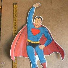 Coleccionismo Cromos troquelados antiguos: GRAN CROMO TROQUELADO POSTER SUPERMAN , UNICO MUY RARO , 48 CM , AÑOS 70. Lote 53618051