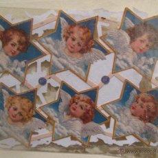 Coleccionismo Cromos troquelados antiguos: CROMO TROQUELADO CON PURPURINA ANGELES. Lote 53674843