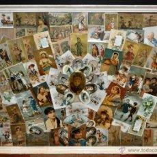 Coleccionismo Cromos troquelados antiguos: CUADRO CON COMPOSICIÓN DE CROMOS PUBLICITARIOS DE PRINCIPIOS DEL SIGLO XX. Lote 53676953