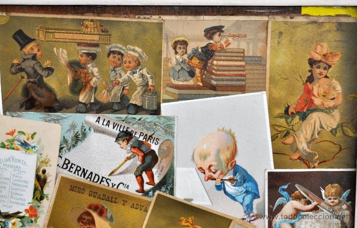 Coleccionismo Cromos troquelados antiguos: CUADRO CON COMPOSICIÓN DE CROMOS PUBLICITARIOS DE PRINCIPIOS DEL SIGLO XX - Foto 5 - 53676953