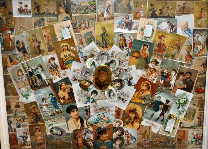 Coleccionismo Cromos troquelados antiguos: CUADRO CON COMPOSICIÓN DE CROMOS PUBLICITARIOS DE PRINCIPIOS DEL SIGLO XX - Foto 6 - 53676953