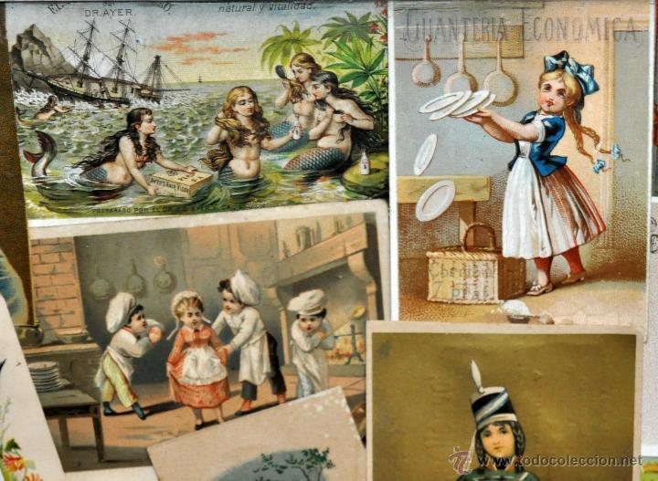 Coleccionismo Cromos troquelados antiguos: CUADRO CON COMPOSICIÓN DE CROMOS PUBLICITARIOS DE PRINCIPIOS DEL SIGLO XX - Foto 9 - 53676953