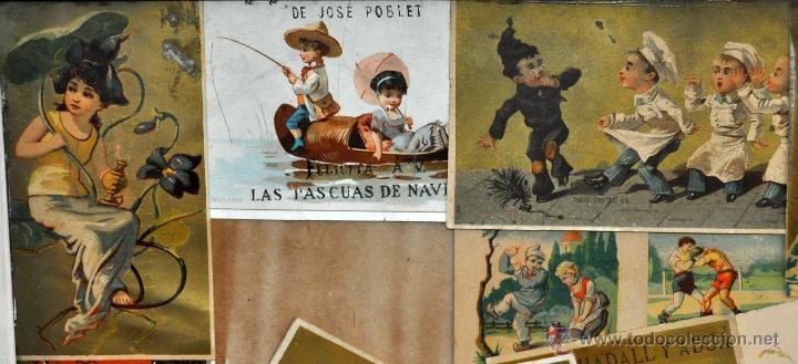 Coleccionismo Cromos troquelados antiguos: CUADRO CON COMPOSICIÓN DE CROMOS PUBLICITARIOS DE PRINCIPIOS DEL SIGLO XX - Foto 10 - 53676953