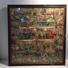 Coleccionismo Cromos troquelados antiguos: CUADRO DE CROMOS ANTIGUOS.. Lote 53765386