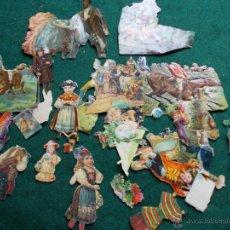 Coleccionismo Cromos troquelados antiguos: CROMOS MUY ANTIGUOS LOTE. Lote 54383076