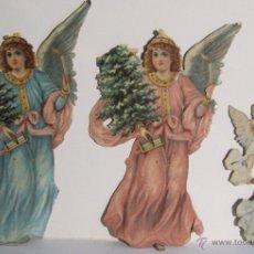 Coleccionismo Cromos troquelados antiguos: IMPORTANTE GRUPO DE ANGELES. CROMOS TROQUELADOS. SIGLO XIX. REPARTIDORES JOSE SERRA BARCELONA. Lote 54413470