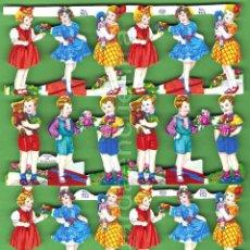 Coleccionismo Cromos troquelados antiguos: CROMOS TROQUELADOS PICAR PALMA MANUALIDADES DECOUPAGE 753 NIÑA NIÑO NIÑOS. Lote 54485681