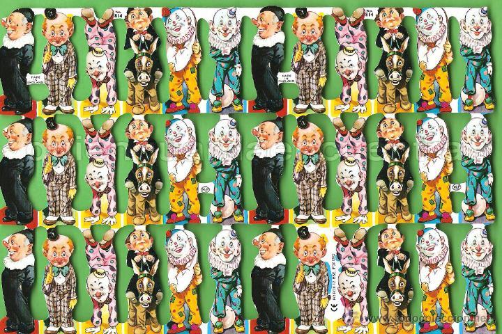 CROMOS TROQUELADOS PICAR PALMA MANUALIDADES DECOUPAGE 814 PAYASO PAYASOS (Coleccionismo - Cromos y Álbumes - Cromos Troquelados)