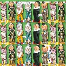Coleccionismo Cromos troquelados antiguos: CROMOS TROQUELADOS PICAR PALMA MANUALIDADES DECOUPAGE 814 PAYASO PAYASOS. Lote 54485870