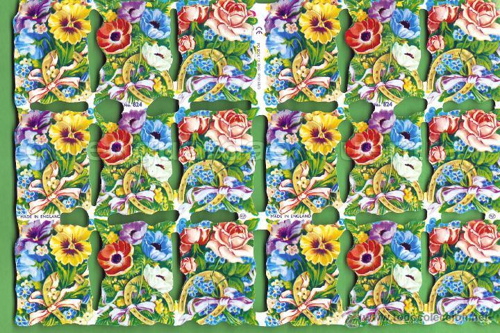 CROMOS TROQUELADOS PICAR PALMA MANUALIDADES DECOUPAGE 824 BOUQUET FLORES (Coleccionismo - Cromos y Álbumes - Cromos Troquelados)