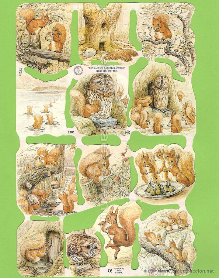 CROMOS PICAR MANUALIDADES DECOUPAGE 1785 CUENTO ARDILLA BEATRIX POTTER THE TALE OF SQUIRREL NUTKIN (Coleccionismo - Cromos y Álbumes - Cromos Troquelados)