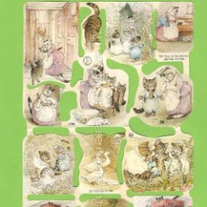 Coleccionismo Cromos troquelados antiguos: CROMOS MANUALIDADES DECOUPAGE 1786 CUENTO GATITO TOM BEATRIX POTTER THE TALE OF TOM KITTEN. Lote 54499001