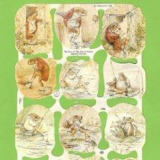 Coleccionismo Cromos troquelados antiguos: CROMOS DECOUPAGE 1788 CUENTO SR JEREMÍAS PESCADOR BEATRIX POTTER THE TALE OF MISTER JERMY FISHER. Lote 54499312
