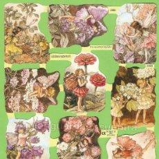 Coleccionismo Cromos troquelados antiguos: CROMOS HADAS FLORES DECOUPAGE PICAR PALMAR MANUALIDADES 1888 FLOWERS FAIRIES CICELY MARY BARKER. Lote 103948020