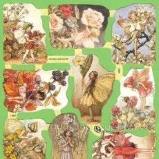 Coleccionismo Cromos troquelados antiguos: CROMOS HADAS FLORES DECOUPAGE PICAR PALMAR MANUALIDADES 1889 FLOWERS FAIRIES CICELY MARY BARKER. Lote 54530909