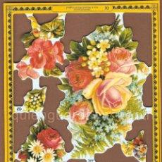 Coleccionismo Cromos troquelados antiguos: CROMOS DECOUPAGE MANUALIDADES SERIE LUJO ROSA PENSAMIENTO MARGARITA MADROÑO FLOR FLORES CENTRO. Lote 54534790