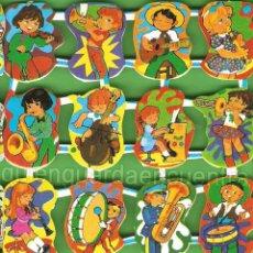 Coleccionismo Cromos troquelados antiguos: LOTE CROMOS ESPAÑOLES ORIGINALES LOROÑO CIRCO MÚSICA JUGUETES BASTANTE RELIEVE 3 LÁMINAS 48 CROMOS . Lote 54627660