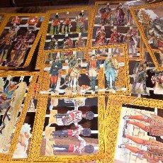 Coleccionismo Cromos troquelados antiguos: GRAN LOTE 8 LAMINAS 46 CROMOS SOLDADOS ENGLAND 1986 MAMELOK PRESS CROMO SOLDADO TROQUELADO. Lote 54750119