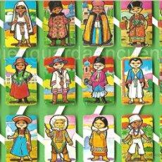 Coleccionismo Cromos troquelados antiguos: CROMOS RECORTADOS LOROÑO AÑOS 70-80 ESPAÑOLES AUTÉNTICOS CON MUCHO RELIEVE RAZAS DEL MUNDO 2. Lote 54818499