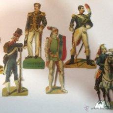 Coleccionismo Cromos troquelados antiguos: LOTE DE 7 CROMOS TROQUELADOS DE SOLDADOS EUROPEOS. 12CM. Lote 54867906