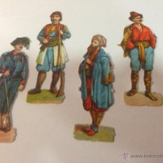 Coleccionismo Cromos troquelados antiguos: LOTE DE 4 CROMOS TROQUELADOS DE SOLDADOS. 9CM. Lote 54867925