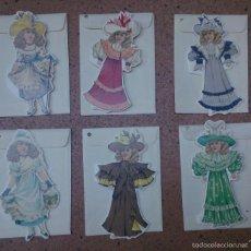 Coleccionismo Cromos troquelados antiguos: LOTE 6 TARJETAS MUÑECAS TROQUELADAS 1994 SHACKMAN NY. Lote 57817713