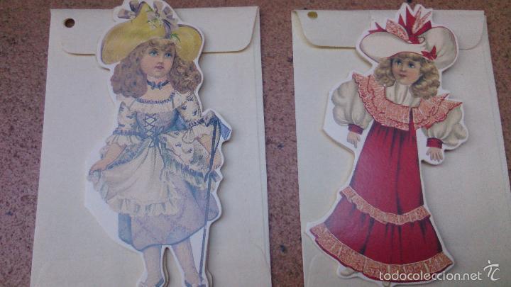 Coleccionismo Cromos troquelados antiguos: Lote 6 tarjetas muñecas troqueladas 1994 Shackman NY - Foto 2 - 57817713