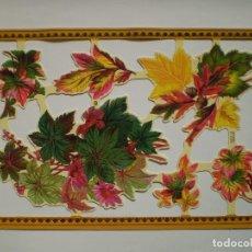 Coleccionismo Cromos troquelados antiguos: GIN. LÁMINA DE CROMOS TROQUELADOS SCRAPBOOK SERIE ORO MLP A151 - HOJAS DE OTOÑO. Lote 133826898