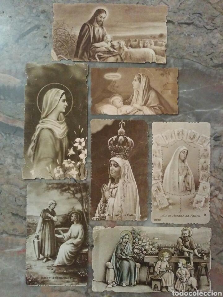 LOTE DE 7 ESTUPENDOS CROMOS RELIGIOSOS TROQUELADOS (Coleccionismo - Cromos y Álbumes - Cromos Troquelados)