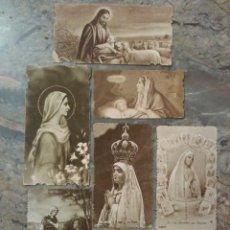 Coleccionismo Cromos troquelados antiguos: LOTE DE 7 ESTUPENDOS CROMOS RELIGIOSOS TROQUELADOS. Lote 62646883