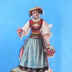 Coleccionismo Cromos troquelados antiguos: ANTIGUO CROMO TROQUELADO , MUJER ,. Lote 62743376