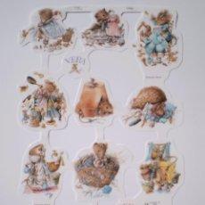 Coleccionismo Cromos troquelados antiguos: GIN. LÁMINA DE CROMOS TROQUELADOS MLP 1763 - MARJOLEIN BASTIN - RATITA VERA. Lote 221998895