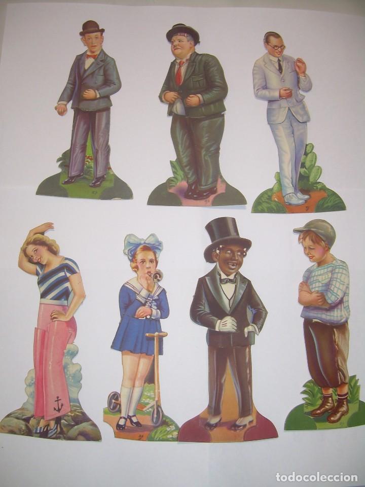 SIETE CROMOS TROQUELADOS DE ARTISTAS DE CINE.....CHOCOLATES AMATLLER. (Coleccionismo - Cromos y Álbumes - Cromos Troquelados)