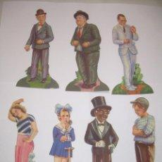 Coleccionismo Cromos troquelados antiguos: SIETE CROMOS TROQUELADOS DE ARTISTAS DE CINE.....CHOCOLATES AMATLLER.. Lote 64649615