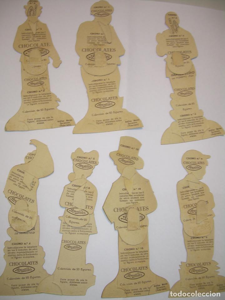 Coleccionismo Cromos troquelados antiguos: SIETE CROMOS TROQUELADOS DE ARTISTAS DE CINE.....CHOCOLATES AMATLLER. - Foto 4 - 64649615