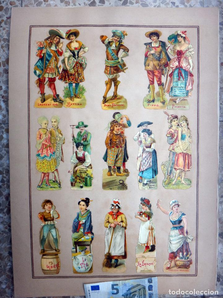 CROMOS TROQUELADOS, SIGLO XIX, LAMINA TIPO CARTEL, PUBLICIDAD , ORIGINAL (Coleccionismo - Cromos y Álbumes - Cromos Troquelados)