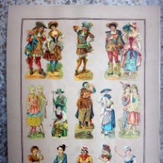 Coleccionismo Cromos troquelados antiguos: CROMOS TROQUELADOS, SIGLO XIX, LAMINA TIPO CARTEL, PUBLICIDAD , ORIGINAL . Lote 66847310