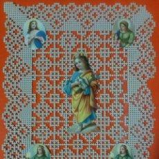 Coleccionismo Cromos troquelados antiguos: ESPECTACULAR CROMO TROQUELADO PUNTILLA RELIGIOSO. Lote 67054978