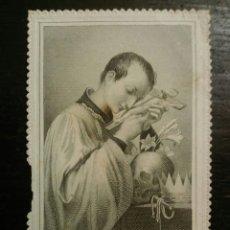 Coleccionismo Cromos troquelados antiguos: ESTAMPA RELIGIOSA - CROMO, CALADO-PUNTILLA, S. ALOYSIUS , VILLEMUR , PARIS. Lote 67453597