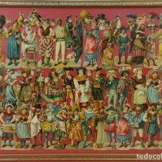Coleccionismo Cromos troquelados antiguos: J2-045. COMPOSICION DE CROMOS TROQUELADOS. PERSONAJES. SIGLO XIX.. Lote 68205689