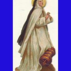 Coleccionismo Cromos troquelados antiguos: ANTIGUO (1880/1920) CROMO RELIGIOSO TROQUELADO SANTA TERESA MONJA 6 CM. Lote 69887001