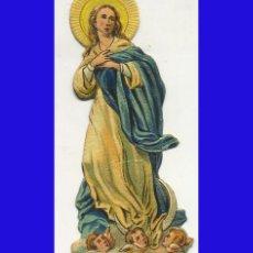 Coleccionismo Cromos troquelados antiguos: ANTIGUO (1880/1920) CROMO RELIGIOSO TROQUELADO INMACULADA CONCEPCION 6 CM. Lote 69887341