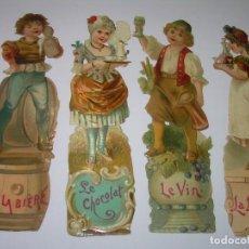 Coleccionismo Cromos troquelados antiguos: ANTIGUOS CROMOS TROQUELADOS....PRINCIPIOS SIGLO XX....DE CHOCOLATES.. Lote 70375401