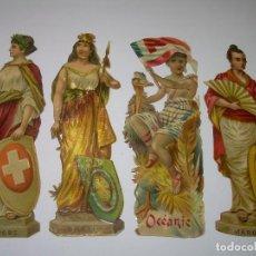 Coleccionismo Cromos troquelados antiguos: ANTIGUOS CROMOS TROQUELADOS COMPAÑIA CHOCOLATES.COLONIAL-PRINCIPIOS SIGLO XX.. Lote 70375769